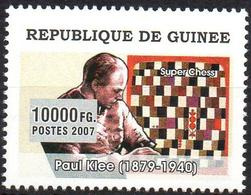 GUINEA - 1v - MNH - Chess In Art. Schach In Der Kunst. Ajedrez En El Arte Paintings Echecs Peinture Gemalde Paul Klee - Schach