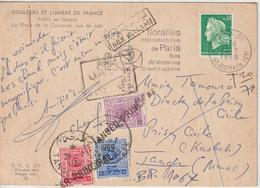 CPM 1969 Cheffer 0.30 De France Pour Le Maroc Taxée - 1961-....