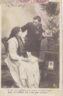 """CARTE FANTAISIE. COUPLE. SÉRIE COMPLÈTE DE 5 CARTES COLORISÉES """" LE PETIT DOIGT """". ANNÉE 1906 - Couples"""