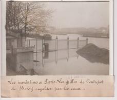 INONDATIONS PARIS L'ENTREPÔT DE BERCY CRUE SEINE 18*13CM Maurice-Louis BRANGER PARÍS (1874-1950) - Lugares