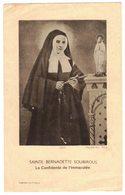 Sainte Bernadette Soubirous La Confidente De L'Immaculée IMAGE PIEUSE RELIGIEUSE HOLY CARD SANTINI HEILIG PRENTJE - Imágenes Religiosas