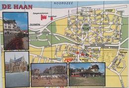 (245) De Haan - Tramhalte - H. Monica Kerk - Het Strand - Cartes Géographiques