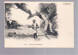 SOMALIA Djibouti - Guerrier Somali  OLD POSTCARD - Somalië