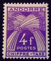 Andorre Andorra 1943 Chiffre Taxe Yvert T28 * MH - Ungebraucht