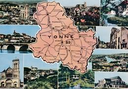 89 Yonne, Carte Départementale, Multivues - Altri Comuni