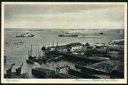 HELGOLAND Ca. 1920/25, FOTOPOSTKARTE, ABB. HAFENGELÄNDE MIT DÜNE, UNGELAUFEN! - Helgoland