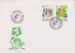 Europa Cept 1989 Liechtenstein 2v  FDC  (43808) - 1989