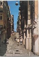 (248) Valletta Malta - St. John's Street - Beeld Van H. Antonius - Malte