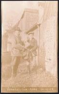 VIEILLE CARTE PHOTO ** VERNEUIL SUR AVRE 1918 - APRES LA CHASSE - FUSIL - CHASSEUR - AFTER THE HUNT - RIFLE - HUNTER - Verneuil-sur-Avre