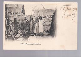 SOMALIA  Djibouti Femmes Somalis OLD POSTCARD - Somalië