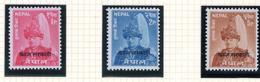 1960 - NEPAL  -  Mi. Nr.  Taxe 13/15 - NH - (CW4755.43) - Nepal