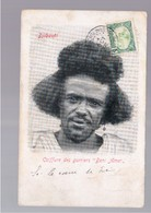 "Djibouti - Coiffure Des Guerriers ""Beni Amer"" 1905 OLD POSTCARD - Gibuti"