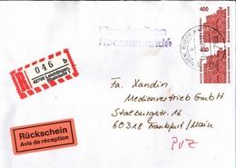 ! 1 Einschreiben Mit Rückschein,  R-Zettel Aus 42799 Leichlingen Im Rheinland - [7] République Fédérale