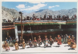 (252) Mask Dance At Phyang Monastery - Ladakh - Kashmir - India