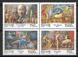 RUSSIE  /   URSS    -   1996 .  Y&T N° 6209 à 6212 **.   Alexandre Gorski  /  Ballets  /  Danse.    Série Complète. - 1992-.... Fédération