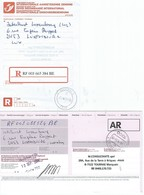 Récipissé Envoi Recommandé Et Son Accusé De Réception Au G.D. De Luxembourg - Documents De La Poste