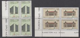 Europa Cept 1990 Turkey 2v Bl Of 4 ** Mnh (43810B) - 1990
