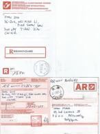 Récipissé Envoi Recommandé Et Son Accusé De Réception En Chine - Documenti Della Posta