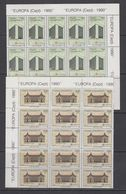Europa Cept 1990 Turkey 2v 15x** Mnh (43811) - 1990