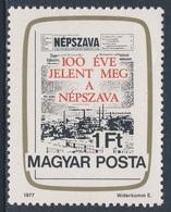 """Hungary Ungarn 1977 Mi 3191 A YT 2563 SG 3103 ** Cent. Newspaper """"Népszava"""" / Gewerkschaftszeitung / Journal - Ongebruikt"""