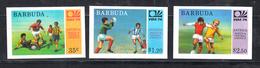 Barbuda 1974 Mi Nr 175 - 177, Ongetand, Voetbal, Football, WK 1974, Postfris - Antigua En Barbuda (1981-...)