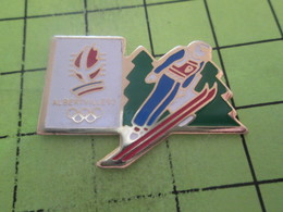 810i Pin's Pins / Beau Et Rare : THEME :  JEUX OLYMPIQUES / SAUT A SKIS ALBERTVILLE 1992 - Olympic Games