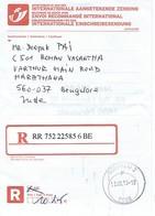 Récipissé De Dépôt D'un Envoi Recommandé International - 201 PoD Int Avec AR (AR Non Retourné) - Documents De La Poste