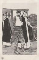 Illustrateurs : Roger BRODERS : Poilu Blessé Accompagné D'infirmières ( Militaria Guerre 1914-18 ) - Autres Illustrateurs