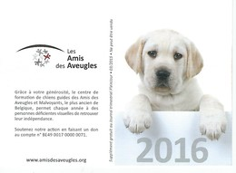 Calendrier 2016 - Chiot - Les Amis Des Aveugles - Petit Format : 2001-...