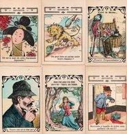 96Hs  Lot (N°4) De 6 Cartes Publicitaires Jeu énigme à Trouver Pharmacie Hiltbrand Lyon - Publicidad