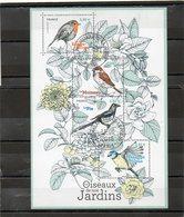 FRANCE     Feuillet De 4 Timbres 0,80 €      2018    Y&T: F5239    Oiseaux De Nos Jardins  Oblitérés - Sheetlets