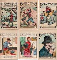 96Hs  Lot (N°3) De 6 Cartes Publicitaires Jeu énigme à Trouver Pharmacie Hiltbrand Lyon - Publicidad