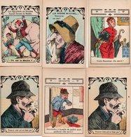 96Hs  Lot (N°1) De 6 Cartes Publicitaires Jeu énigme à Trouver Pharmacie Hiltbrand Lyon - Publicidad