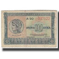 Billet, Grèce, 10 Drachmai, 1940, KM:314, TB - Grèce
