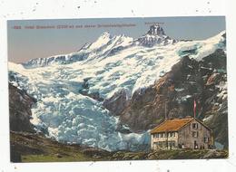 Cp , Suisse , BE , Hotel Gleckstein Und Oberer Grindelwaldgletscher ,  Vierge ,ed . Photoglob - BE Berne