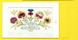 """Carte Brodée """"Fleurs Des Alliés"""" - Patriotic"""
