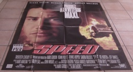 AFFICHE CINEMA ORIGINALE FILM SPEED Jan DE BONT Keanu REEVES Sandra BULLOCK 1994 TBE - Affiches & Posters