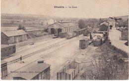 CHABLIS : (89) .La Gare . - Stazioni Con Treni