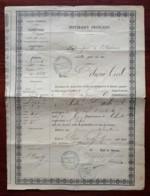 Guerre De 1870-71 . Passeport Du 1er Mai 1871 . Chef D'orchestre , Violoniste Et Compositeur Jules Danbé , Natif De Caen - Historical Documents