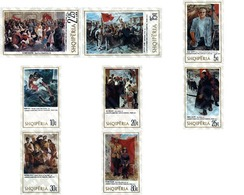 Ref. 112370 * MNH * - ALBANIA. 1975. ALBANIAN PAINTINGS . PINTURAS ALBANESAS - Sin Clasificación