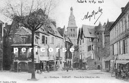 24  Sarlat  Place De La Liberté En 1860 - Sarlat La Caneda