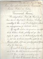 WO/   NEEROETEREN   SOLICITATIEBRIEF VAN ANTOINETTE COESSENS Aan SCHOOLCOMITE LIER  1915 - Documents Historiques