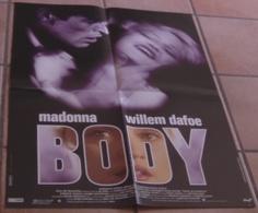 AFFICHE CINEMA ORIGINALE FILM BODY MADONNA Willem DAFOE Joe MANTEGNA ULI EDEL 1993 TBE - Affiches & Posters