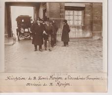 RECEPTION DE M HENRI ROUJON A L'ACADEMIE FRANCAISE ARRIVÉE  M ROUJON 18*13CM Maurice-Louis BRANGER PARÍS (1874-1950) - Personalidades Famosas