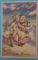 Bonne Année Colorprint Special 7585 Fille Garcon Neige Lanterne Luge Flocon Cadeau - Nouvel An