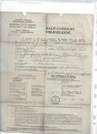 WO/   W.O.I    VRIJGELEIDE  VAN MIN.VAN OORLOG VOOR HAZENBROECKX HANDELAAR TE LIER - Documents Historiques