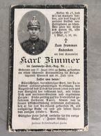 Sterbebild Wk1 Bidprentje Ww1 Avis Décès Deathcard Landwehr AR PIENNES Block 4 Grab 23 Juli 1916 Aus Fulda - 1914-18