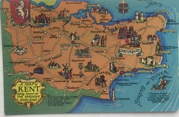 (263) Kent - The Garden Of England - Canterbury - Straits Of Dover - Cartes Géographiques
