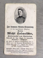 Sterbebild Wk1 Bidprentje Ww1 Avis Décès Deathcard IR11 GERMERSHEIM April 1915 Aus Aholming - 1914-18