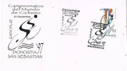 33536. Carta SAN SEBASTIAN 1997, Exposicion Campenato Mundo Ciclismo. DONOSTIA 97 - 1931-Hoy: 2ª República - ... Juan Carlos I